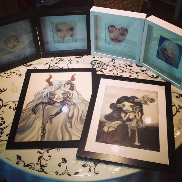 Nataliette's framed paintings for MODA