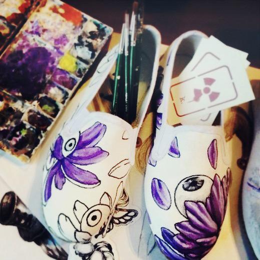 AtomicK's artwork on Koom shoes