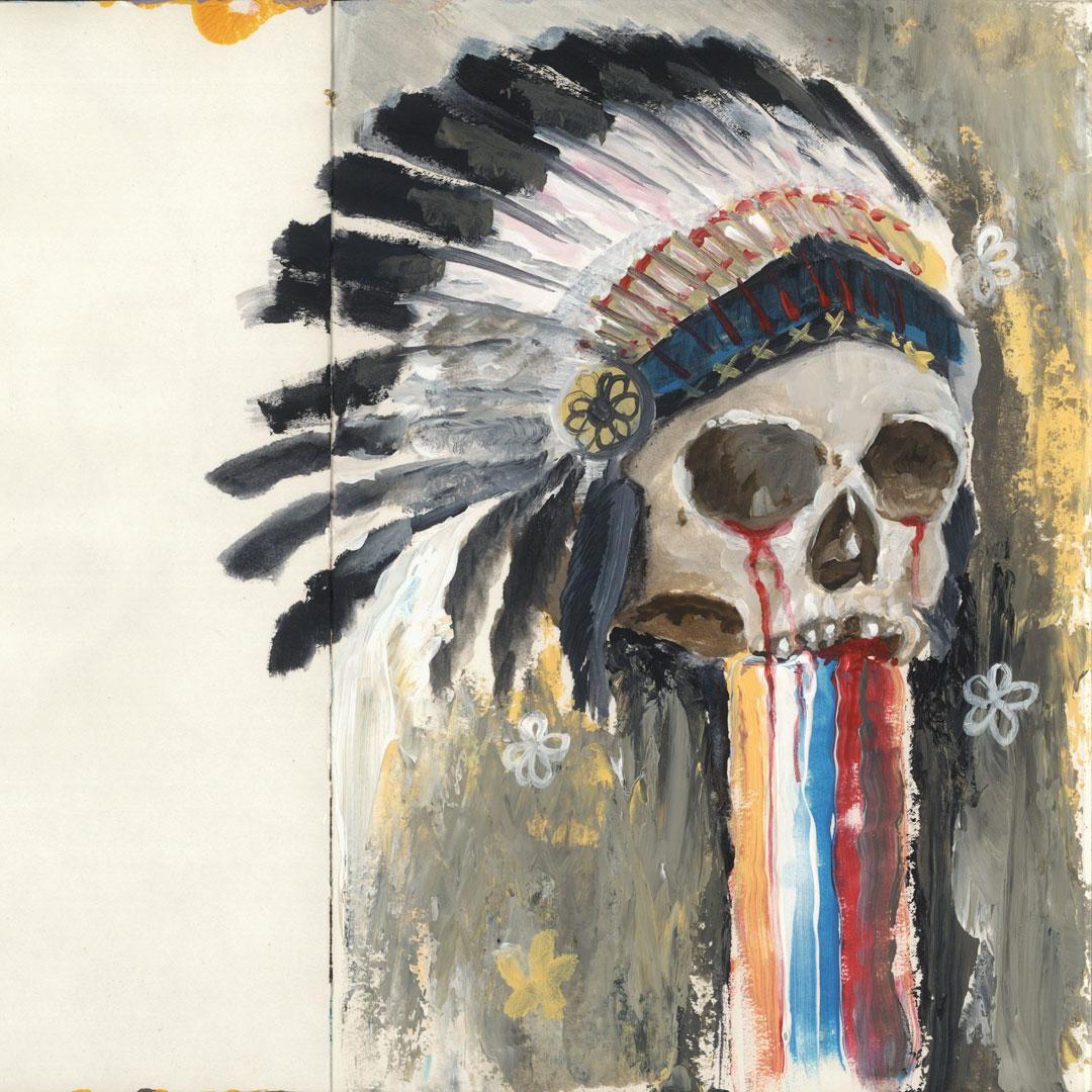 Skull in a Warbonnet